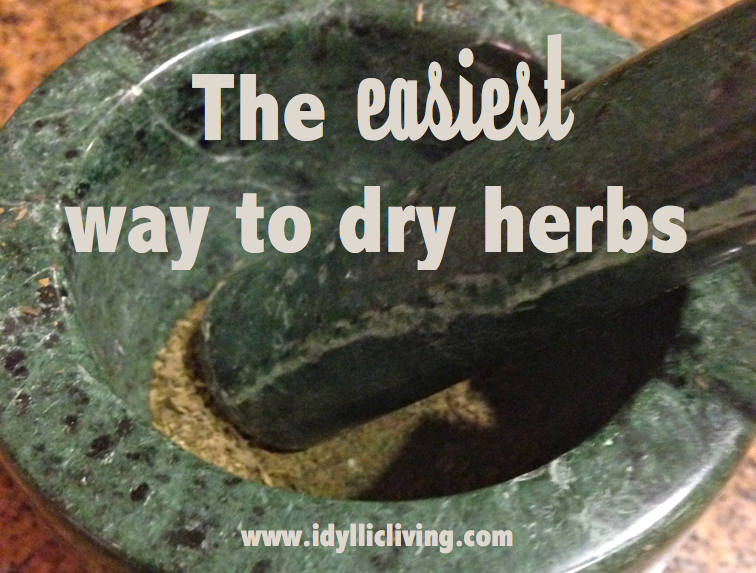 The easiest way to dry herbs
