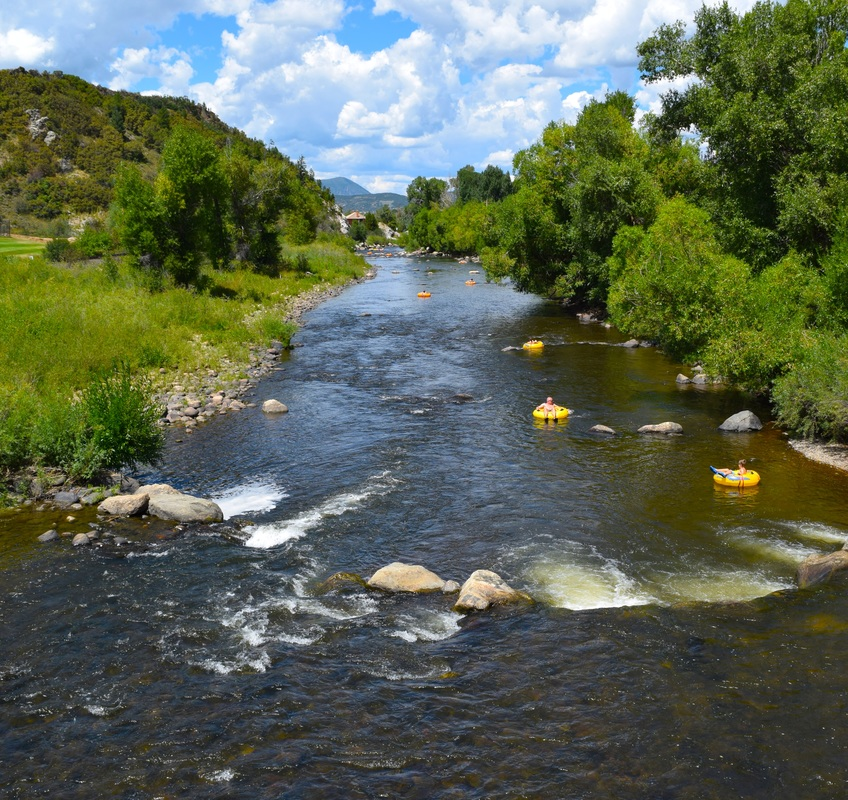 Tubing the Yampa River, Steamboat Springs, Colorado